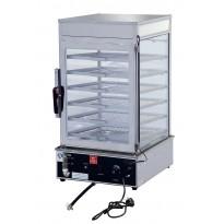 Electric food display steamer